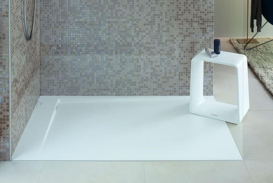 Aranżacja łazienki z brodzikiem posadzkowym Duravit P3 Comforts